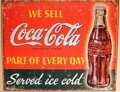 Antique Style We Sell Coca Cola Sign Retro Coke Ad Home Wall Decor Gift USA 16""