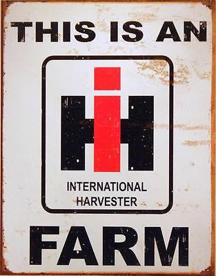 International Harvester Tractor Farmers Machinery Retro Sign Vintage Style USA