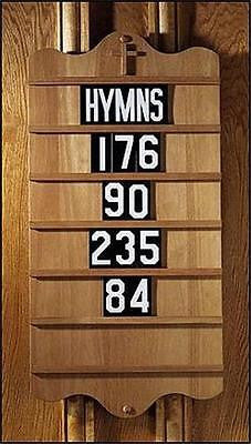 "MRT Handcrafted Wood Wall Mount Hymn Board for Church Chapel 30"" Robert Smith"