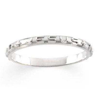 MRT Sterling Silver WWJD Jesus Prayer Ring Christian Jewelry Sizes: 4-8