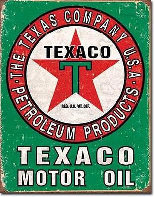 Distressed Texaco Tin Wall Sign Ad Retro Garage Gas Petrol Station USA Gift 16""