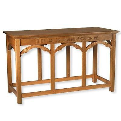 "Solid Oak Wood Altar Communion Table Large Church Chapel Quality 54"" W from MRT"