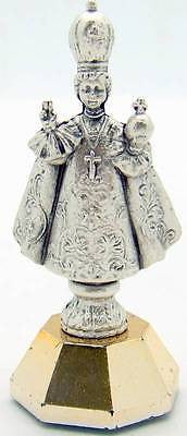 "MRT Infant Child of Prague Magnetic Metal Car Statue Catholic Gift 2"" H Italy"