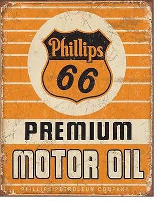 Phillips 66 Gas Station Metal Sign Ad Antique Style Retro Garage Wall Decor 16""