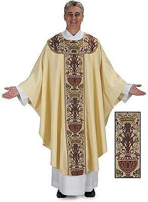 "Coronation Tapestry Chasuble Catholic Priest Vesment 59"" x 52""L w Understole"