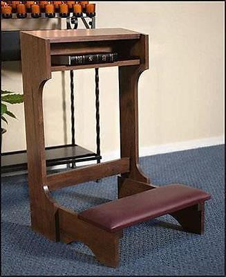 "MRT Handmade Solid Wood Padded Kneeler for Church Chapel Home 32"" Robert Smith"