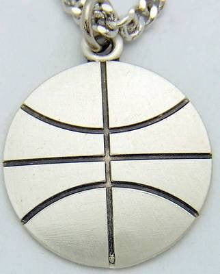 MRT Saint St Sebastian Mens Medal Basketball Sterling Silver w Chain Boxed 3/4""