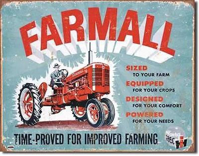 Farmall Tractor Farming Classic Tin Sign Retro Home Garage Decor Gift USA 16""