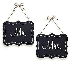 "Newlywed Mr. & Mrs. Wedding Signs 9""H x 11""W Wood Sign w/ Twine Event Decor Gift"