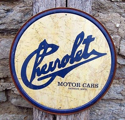"Antique Style Chevy Chevrolet Cars Metal Sign Ad Retro Garage Decor Gift US 12""L"