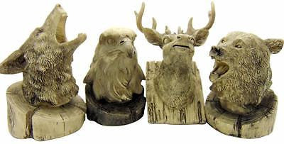 "Wolf Bear Eagle Deer Wildlife Mini Statue Home Decor 3.5"" Tall Home Decor Gift"