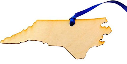 North Carolina Wooden State Christmas Ornament Boxed Gift Handmade in the U.S.A.