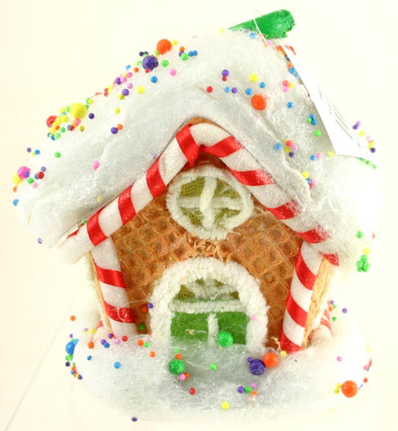 Light Up Gingerbread House Christmas Home Decoration Gift, 7 Inch