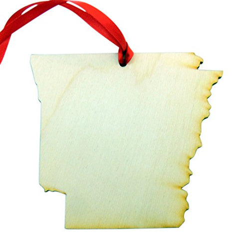Arkansas Wooden Christmas Ornament State Map Boxed Gift Handmade in the U.S.A.