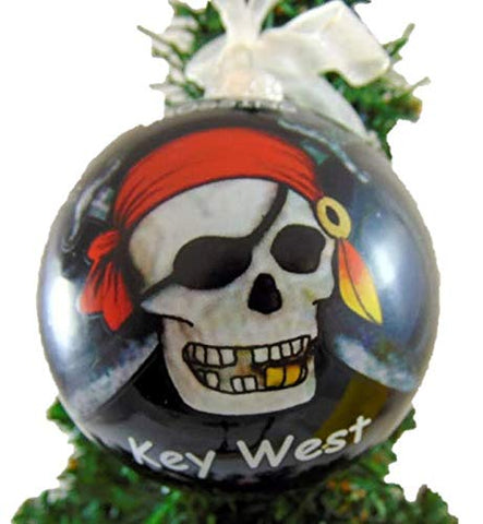 Key West Pirate Christmas Bulb Ornament Pack Tree Decoration Hand Painted