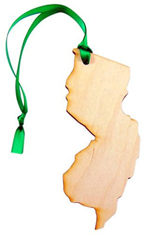 New Jersey Wooden Christmas Ornament Boxed Gift Handmade in the U.S.A.