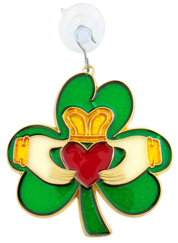 Claddagh Suncatcher Irish Shamrock Window Ornament Sun Catcher Decoration