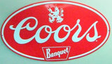 Retro Coors Light Banquet 3-D Embossed Tin Sign Bar Pub Vintage Style Decor 18""
