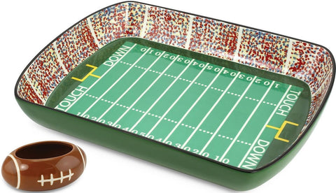 Gridiron Nation Stadium Ceramic Football Chips & Dip Set 12 Inches Long SALE!