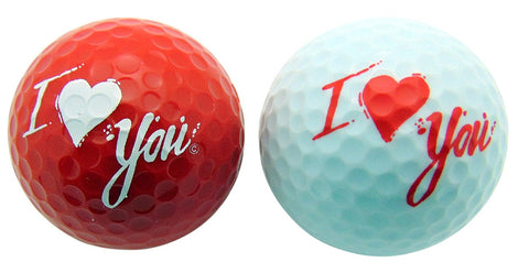 I Love You with Kiss Golf Ball Fun Valentines Day Gift Set