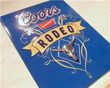 Coors Beer Rodeo Western Die Cut Retro 3D LARGE Tin Sign Wall Decor Gift 18""