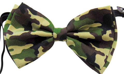 Camouflage Bow Tie Men's Fashion Pre-Tied Adjustable Bow-Tie for Formal Tuxedo Wedding Party Wear
