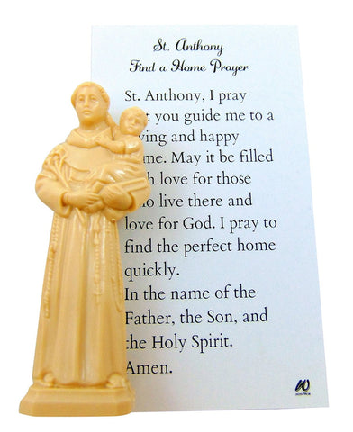 Westman Works St Anthony Home Finder Kit Saint Statue & Prayer for Buying a House