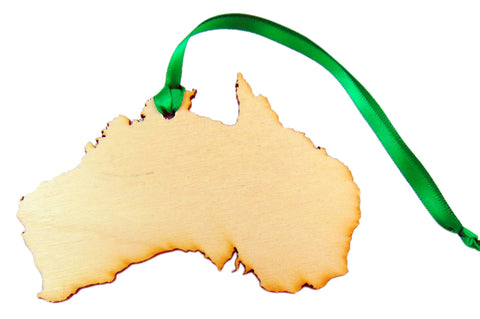 Australia Wooden Country Christmas Ornament Boxed Decoration Handmade in the U.S.A.