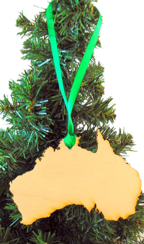 Australia Wooden Country Christmas Ornament Boxed Decoration