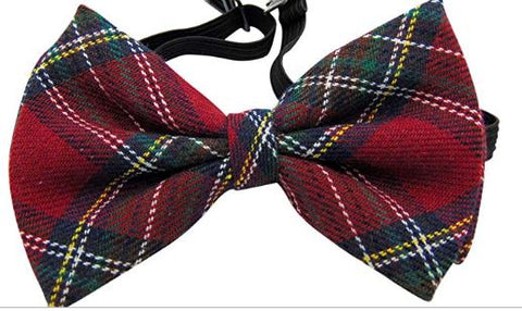 Plaid Bow Tie Men's Fashion Pre-Tied Adjustable Bow Ties for Formal Tuxedo Wedding Party Wear