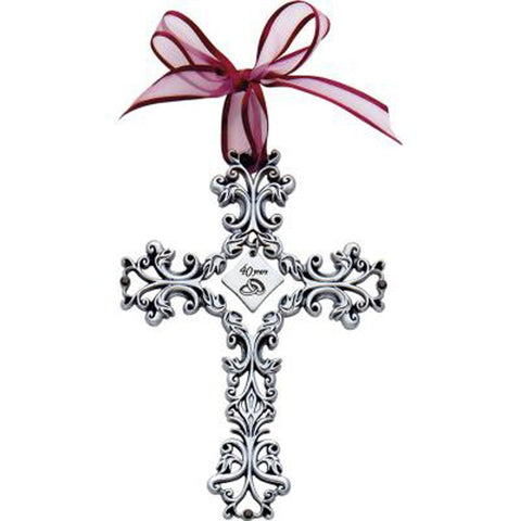 40th Anniversary Cross with Ribbon