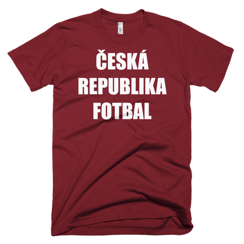 Czech Republic Football Soccer Short Sleeve T-Shirt