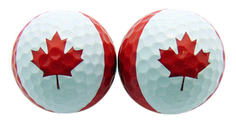Canada Day Canadian Golf Ball Set of 2 Gift Boxed