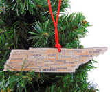 Tennessee Christmas Ornament Wooden Tree Decoration Gift Boxed, 4 3/4 Inch
