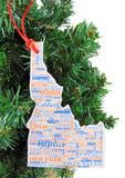 Idaho Christmas Ornament Wooden Tree Decoration Gift Boxed, 4 3/4 Inch