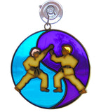 Martial Arts Suncatcher Yen Yang Window Ornament Decoration