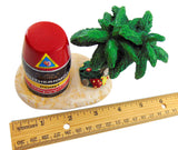 Southernmost Point Buoy Replica Small Statue Key West Table Decoration, 4 inch