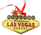 Las Vegas Sign Ornament Resin Christmas Tree Decoration Gift Boxed