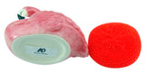 Pink Flamingo Kitchen Sink Sponge Holder with Dish Scrubber