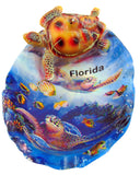 Aquatic Florida Sea Turtle Ocean Polyresin Ashtray