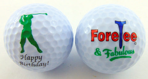 40th Birthday Golf Balls Gift Pack for for Golfers