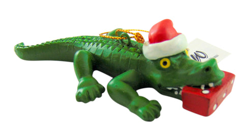Alligator Santa Ornament Christmas Gator Tree Decoration