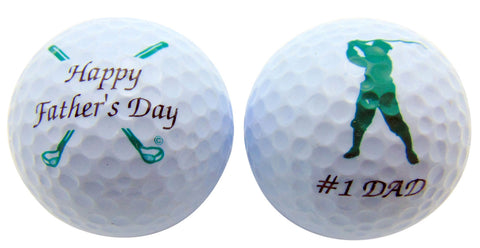 Happy Father's Day Set of 2 Golf Ball Golfer Gift Pack