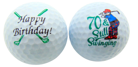 70th Birthday Golf Balls Set of 2 Golf Ball Golfer Gift Pack
