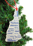 New Hampshire Christmas Ornament Wooden Tree Decoration Gift Boxed, 4 3/4 Inch