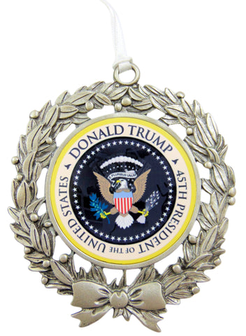 Donald Trump Ornament 45th President Federal Seal Christmas Tree Decoration Gift Boxed