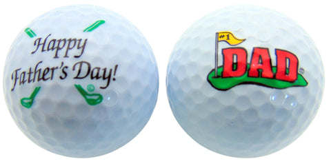 Happy Fathers Day Dad Golf Ball Gift Pack Set