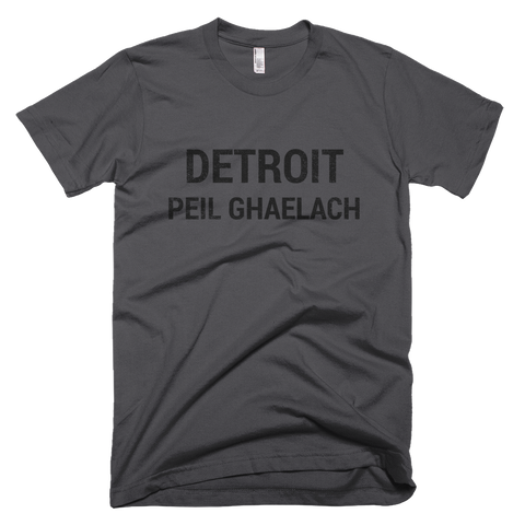 Detroit Gaelic Football Short Sleeve Asphalt T-Shirt