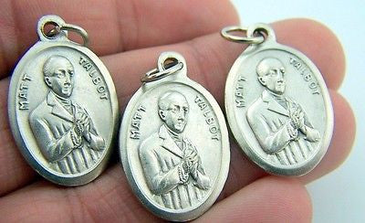 Catholic Medal Charm Pendant Lot 3 Siver Plate Venerable Matt Talbot Pray For Us