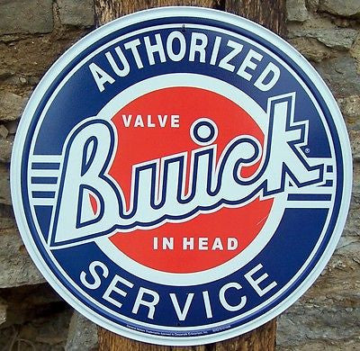 Vintage Style Buick GM Co Retro Tin Sign Ad Garage Home Wall Decor Car Auto Gift